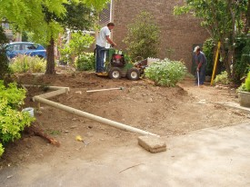 Front Sloping garden construction