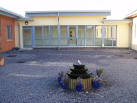 Hospital courtyard before