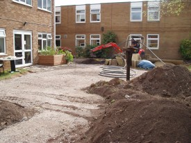 Sensory garden construction
